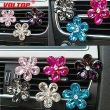Pingente de Flor de cristal Acessórios para Meninas Enfeites de Decoração Do Carro Dashboard Ar Condicionado Tomada Perfume Decoração Interior
