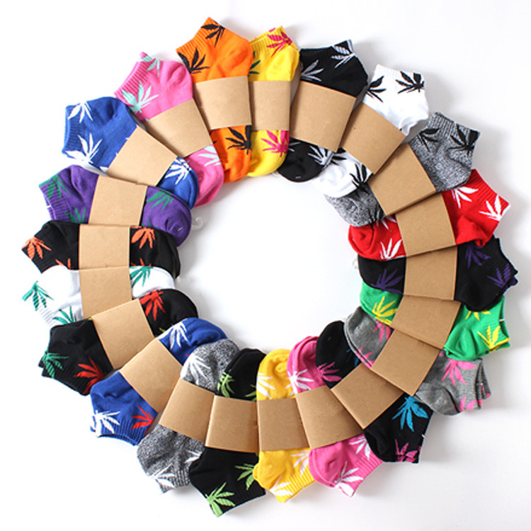 Unisex Fashion Harajuku Skarpetki Weed Socks Cotton Street Fashion Hip Hop Socks Happy Fun Calcatenes Hip Hop Socks