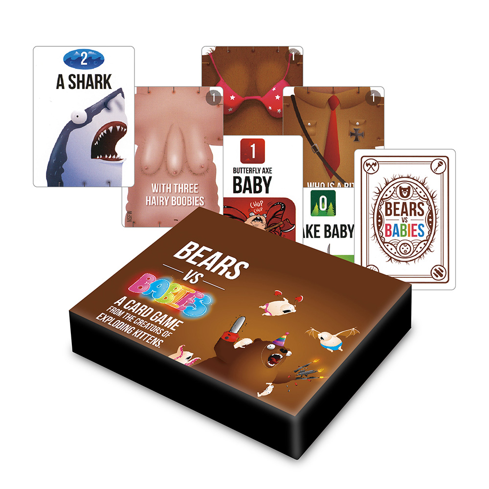 Bear VS Babie Board Game Basic NSFW Expansion Pack for adult Children Educational Toys for 2-5 players family party card games