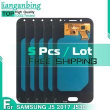 5 sztuk zestaw Super Amoled LCD do Samsung Galaxy AMOLED LCD J5 2017 J530 SM-J530F J530M wyświetlacz LCD + ekran dotykowy Digitizer zgromadzenie tanie tanio lianganbing CN (pochodzenie) Ekran pojemnościowy 1280x720 3 For J5 2017 J530 SM-J530F J530M LCD i ekran dotykowy Digitizer