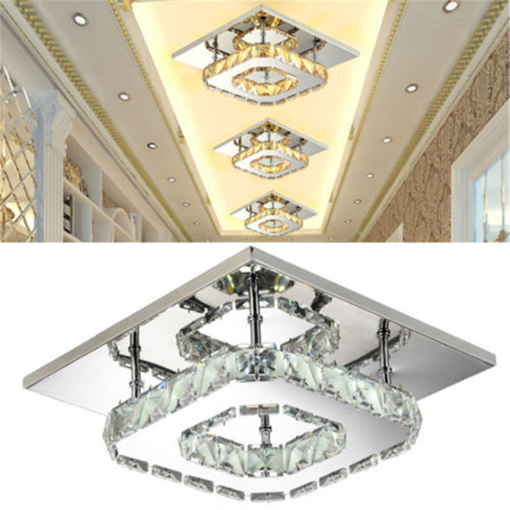Ceiling Lighting 5/12/24/36W Crystal Square Ceiling Lamp Ceiling Chandelier Led Lights For Room Modern Led Ceiling Lamps Light
