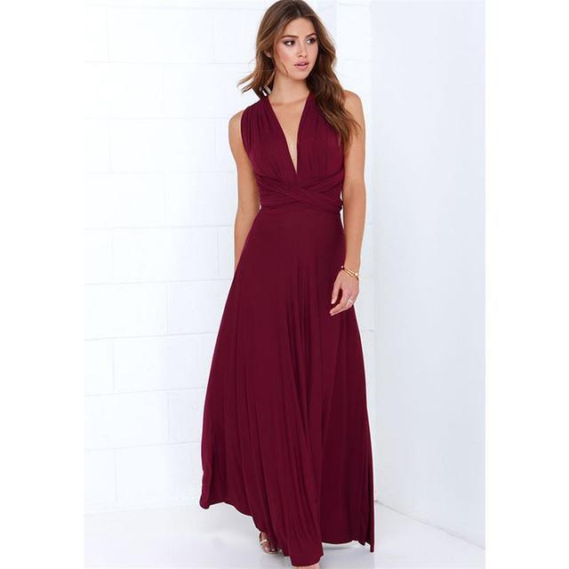 Sexy Women Multiway Wrap Convertible Boho Maxi Club Red Dress Bandage Long Dress Party Bridesmaids Infinity Robe Longue Femme 4