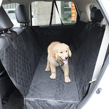 2020 Waterproof Dog Car Seat Cover Mesh Pet Carrier Car Rear Back Seat Mat Hammock Cushion Protector With Zipper And Pockets(China)