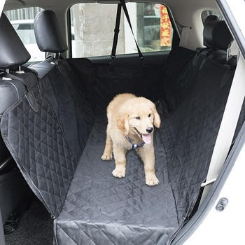 2020 Waterproof Dog Car Seat Cover Mesh Pet Carrier Car Rear Back Seat Mat Hammock Cushion Protector With Zipper And Pockets