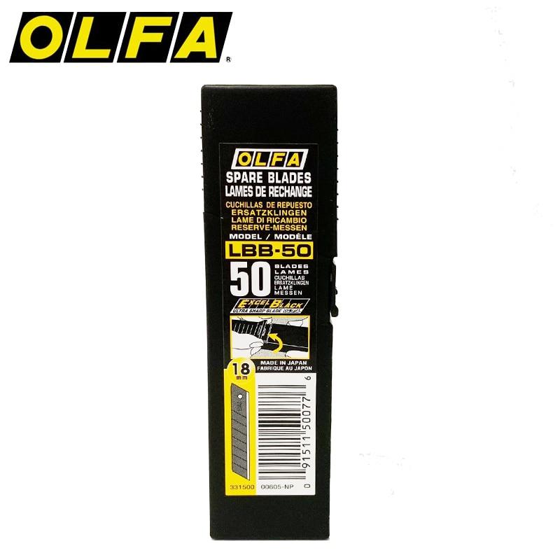 OLFA Blade Black Type 18mm  LBB-10 LBB-50 PL-1 L-1 L-2 L-3 OL FL CL ML SL-1 EXL XL-2 BN-L BN-AL NOL-1 NL-AL