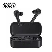 2020 QCY yeni T5 gerçek kablosuz kulaklık Bluetooth 5.1 dokunmatik kontrol spor kulaklıklar Stereo ses kulaklık müzik
