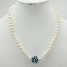 """Классический, популярный, последний 1 шт, натуральный пресноводный барочный жемчуг ожерелье 17"""""""