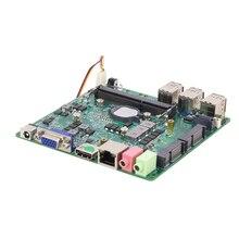 Intel Core i3-5005U Mini PC Motherboard DDR3L mSATA SATA 6 * USB VGA HDMI Mini PCIE WiFi Bluetooth Gigabit LAN DC12V 5A 12x12CM
