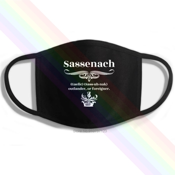 Sassenach Gaelic Sass-uh-nak Outlander or Foreigner Printing Washable Breathable Reusable Cotton Mouth Mask image