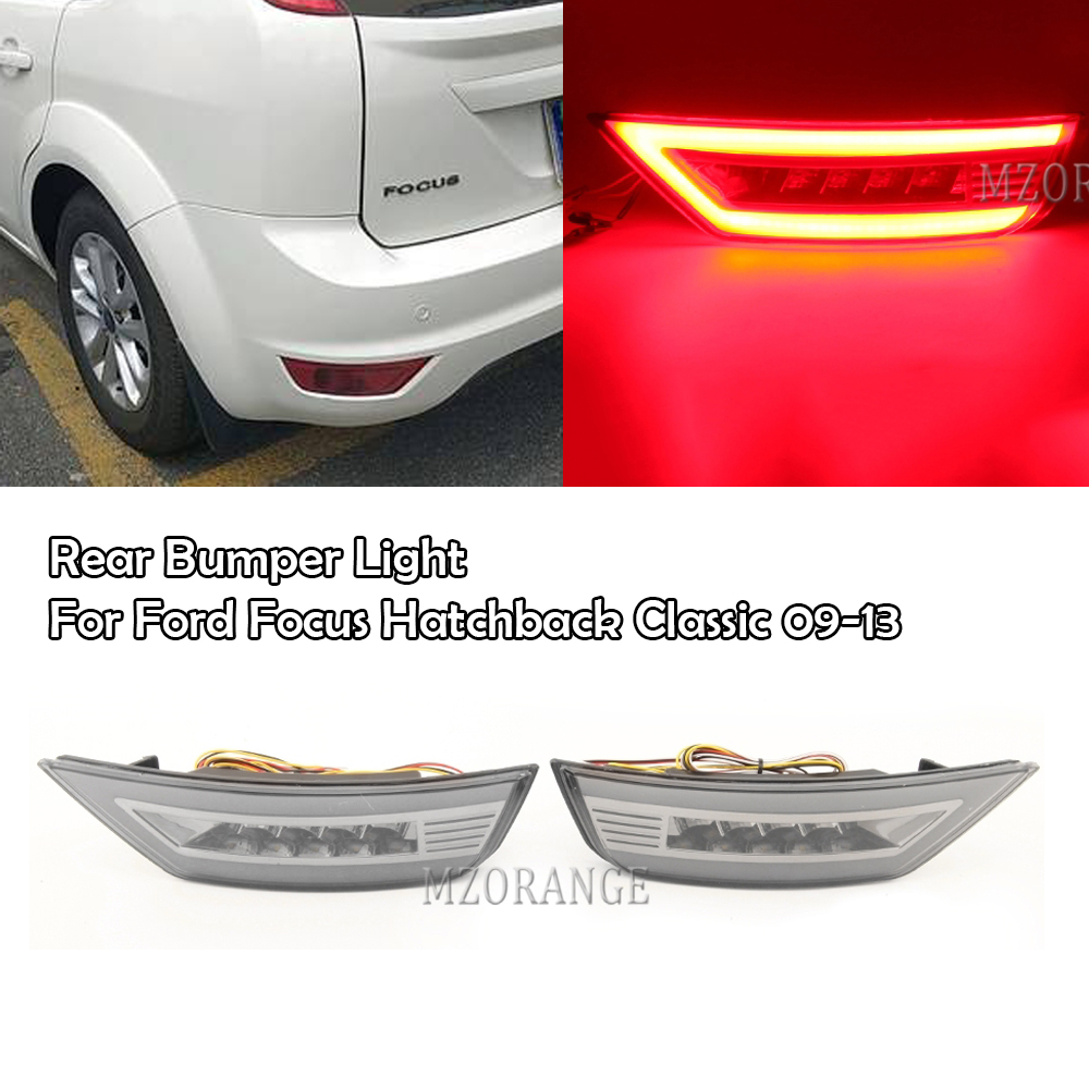 MZORANGE Rear Bumper Light For <font><b>Ford</b></font> <font><b>Focus</b></font> Hatchback Classic 2009 2010 2011 2012 2013 Rear Fog Lamp Rear <font><b>Taillights</b></font> image
