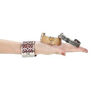 Image 4 - Cremo سوار ذراع أساور للنساء مجوهرات الفولاذ المقاوم للصدأ سوار Manchette للتبادل حلقة من جلد Pulseiras