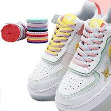 1 пара шнурки для кроссовок с вырезами два цвета
