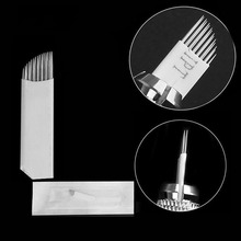 Microblading-Needle Tattoo-Needles Eyebrow Double-Row Blades Permanent Makeup Stainless-Steel