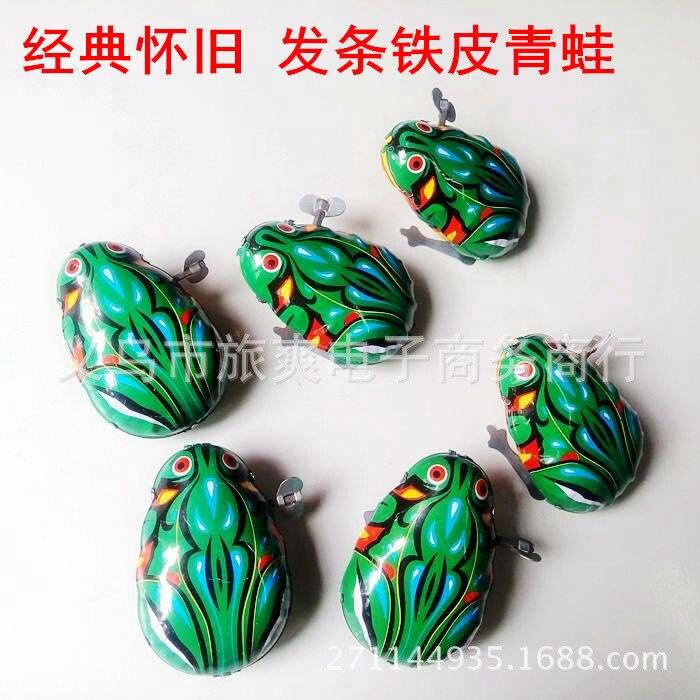 Algam Frog Nostalgic Wind-up Toy Baby Winding Algam Frog Classic Stall Toy