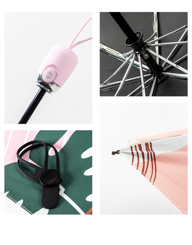 ensolarado chuvoso guarda-chuva automático para as mulheres