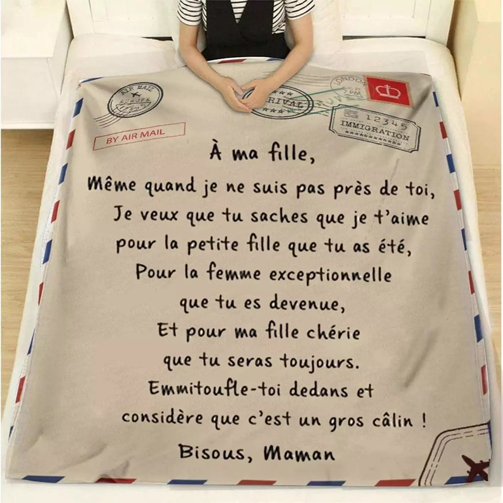 Flannel Throw Blanket Letter Printed Quilts Air Mail 3d Print Keep Warm Sofa Child Blanket Home Textiles Dreamlike Family Gift-1