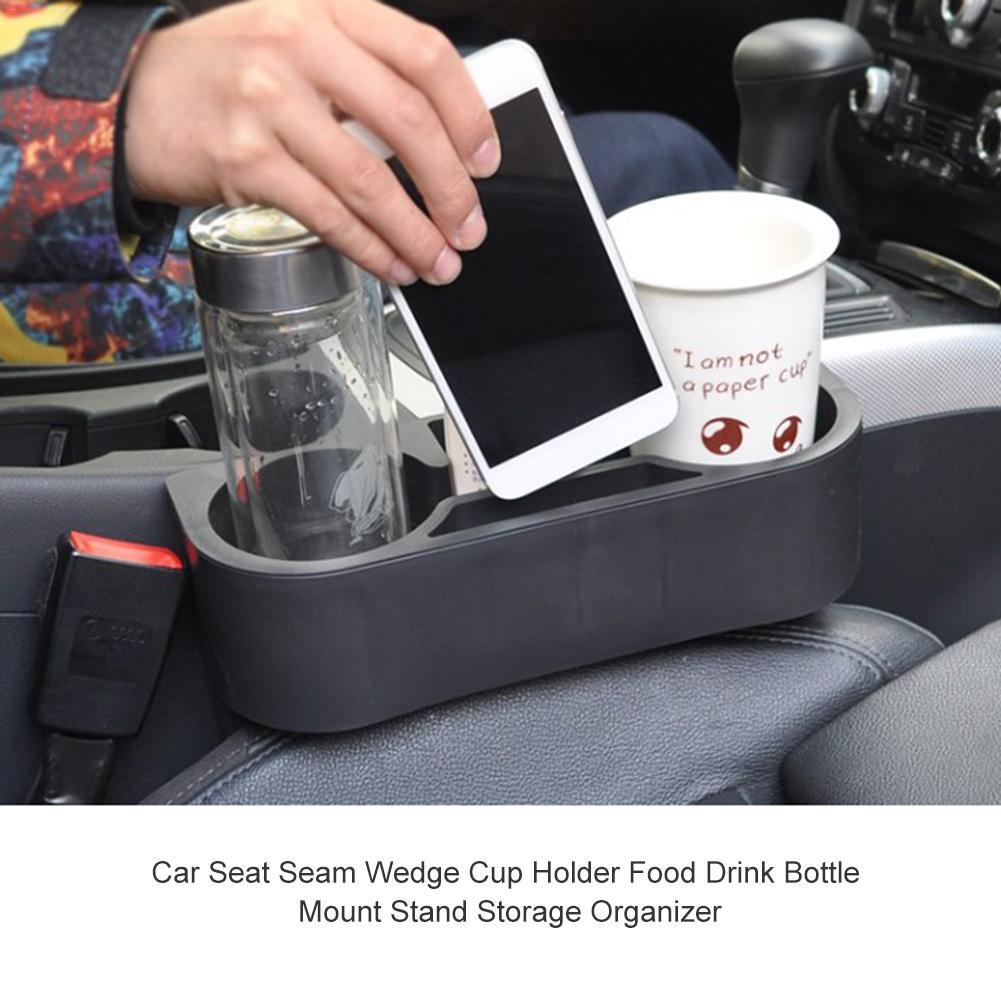 Car Seat Seam Wedge Cup Holder Food Drink Bottle Mount Stand Storage Organizer
