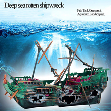 Juguete aeróbico profundo neumático Vintage Retro mar barco podrido naufragio, acuario ornamento de paisajismo