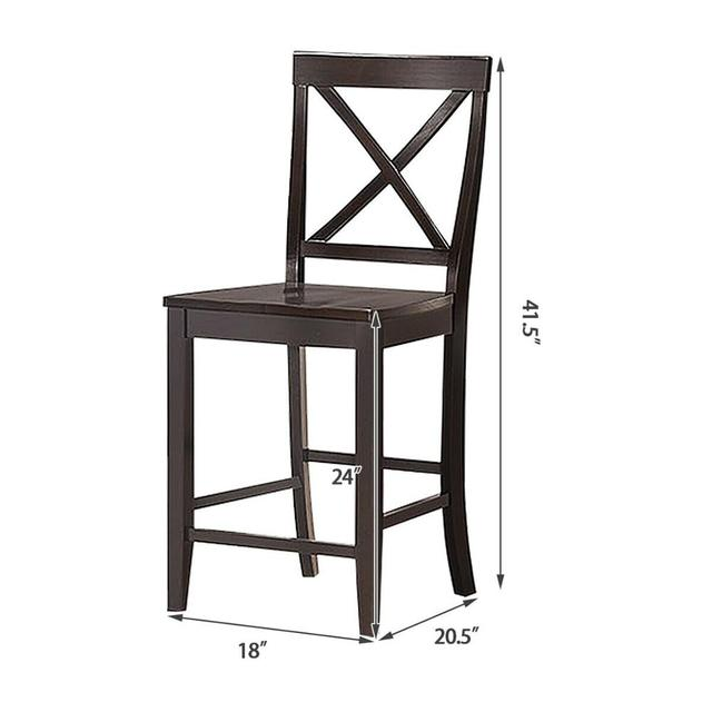 """Set of 2 24"""" Counter Height Barstools 2"""