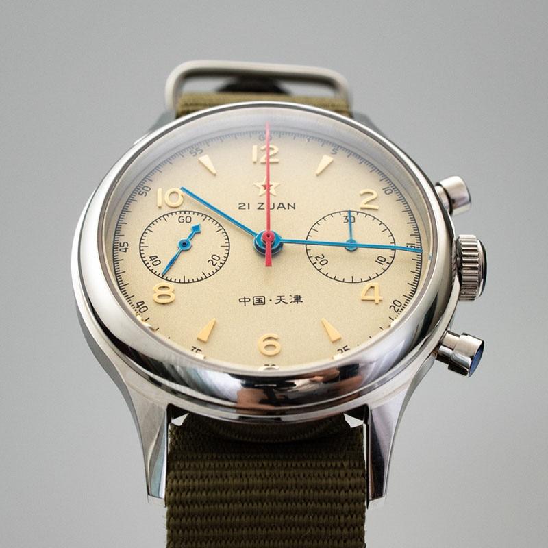 H57288894e75c48c88e8c5a4b73aedca1p Classic 1963 D304 Chronograph Men Pilot Wrist Watch Mechanical Hand Wind Seagull ST1901 Movement Aviator Watches Sapphire Glass