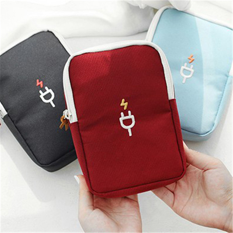 Travel Portable Charger Headset Line Digital Package Coin Bag Men and Women Finishing Box