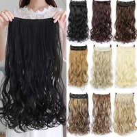 MUMUPI 24 zoll Lange Synthetische Haar Clip In Haar Verlängerung Wärme Beständig Haarteil Natürliche Wellenförmige Haar Stück