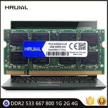 HRUIYL Laptop Memoria DDR2 533 667 800MHZ 1G 2G 4GB SODIMM SDRAM Módulo 1.8V PC2 4200 5300 6400S Notebook Placa Mãe Memória