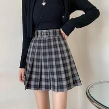 Gothic Streetwear High Waist Fashion Short Skirt Goth Skirt Plaid Pleated Mini Skirts Harajuku Grunge Winter Autumn Women Skirts