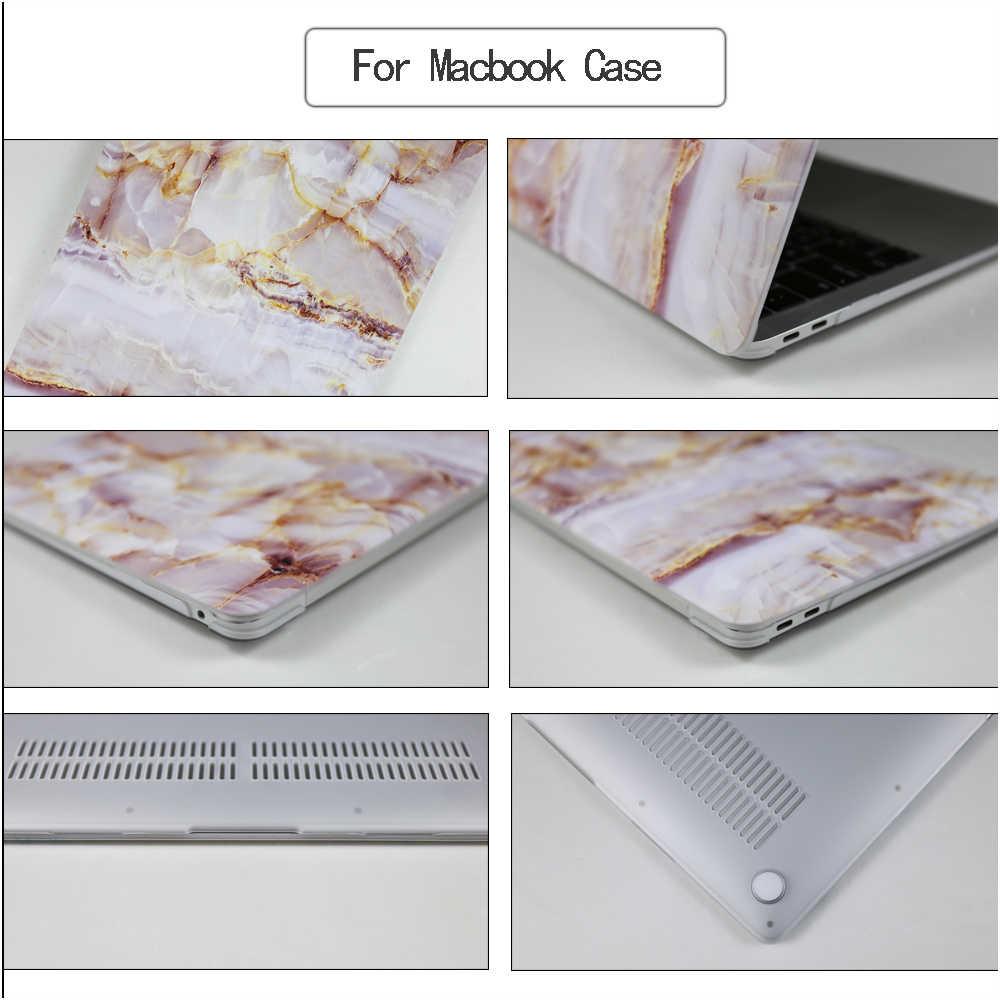 Étui pour ordinateur portable en marbre pour Apple MacBook Touch ID A1932 Air 13 A1466 Pro 13 15 Retina 11 12 Pro 13.3 15.4 tablette tactile + housse de clavier