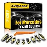 Bombilla LED tipo Canbus luz interior Kit para Mercedes benz C E S M ML clase GL W203 W204 W210 W211 W212 W220 W221 W163 W164 X164 X166