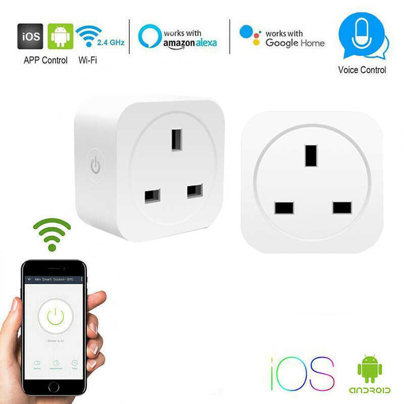Prise intelligente sans fil prises WiFi EU/UK/US 10/16A prise de courant télécommande interrupteur de distribution intelligent pour Amazon Alexa/Google Home