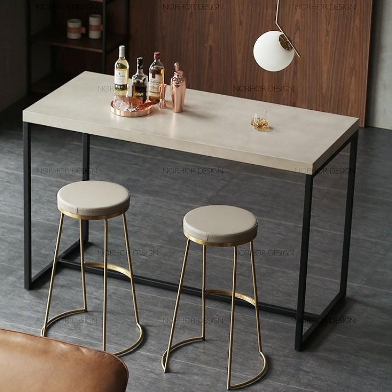 Nordic Bar Stool Wrought Iron Bar Stool Fashion Coffee Chair Gold High Stool Simple Dining Chair Front Chair