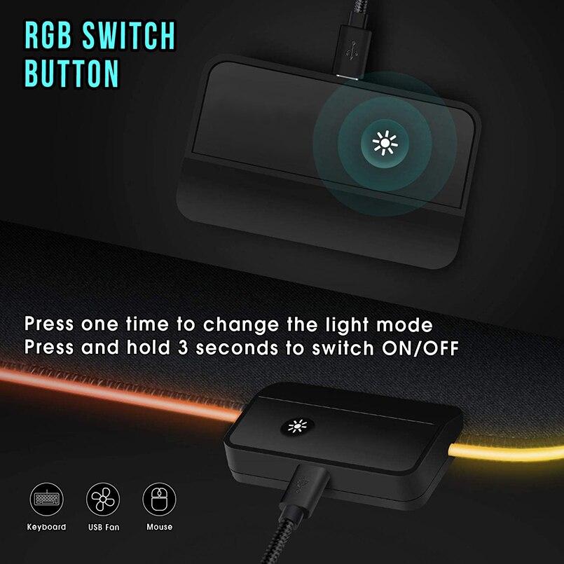 RGB коврик для мыши, игровой коврик для мыши, большой компьютерный коврик для мыши с подсветкой XXL, коврики для мыши со светодиодный подсветкой, коврик для геймеров 900x400, Настольный коврик для CS-1