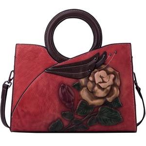 Image 4 - Johnature Retro Handmade Genuine Leather Women Handbag 2020 New Casual Tote Large Capacity High Quality Shoulder&crossbody Bags