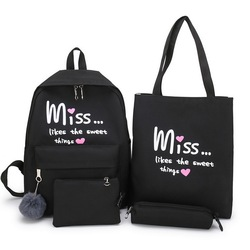 Litthing 4 шт./компл. для девочек школьная сумка для подростков твердый рюкзак Колледж школьная сумка Для женщин высокое рюкзак, Студенческая су...