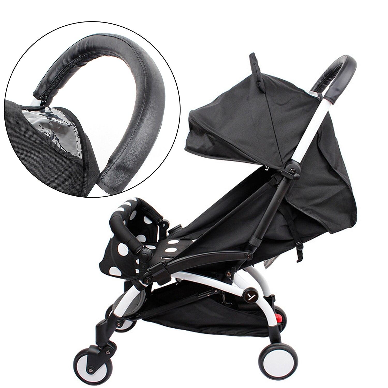 Anti-slip Waterproof Sweatproof PU Leather Baby Stroller Handle Bar Grip Cover Protector For Vovo Yoya Yuyu Babysing Hiwide