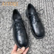 Aiyuqi/Женская обувь; Новинка 2020 года; Тонкие туфли на шнурках