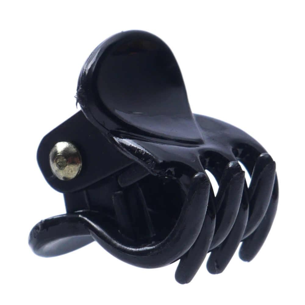 12 pcs//sets Fashion Women Hair Claw Clip Girls Black Plastic Mini Hairpin Claws