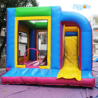 YARD Inflatable bounce house bouncy castle with slide with blower