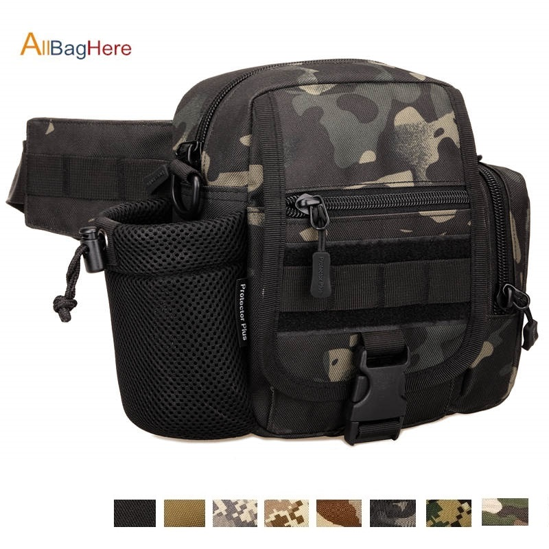 Outdoor Vertical Tactical Waist Bag Multi-purpose Crossbody Travel Riding Water Bag For Sport Hunting Running Camping Fanny Pack