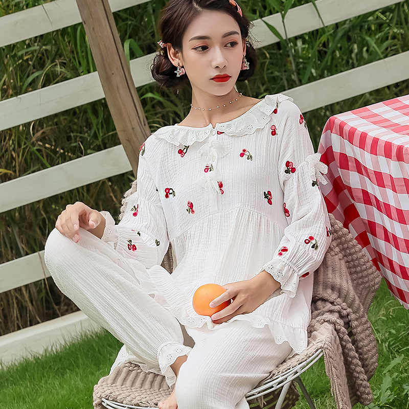 2019 new maternity sleepwear pregnant pajamas nursing breast wear lactation women cotton clothing for feeding nursing clothes