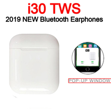 Original i30 TWS 1: 1 Bluetooth 5.0 Wireless 6D heavy bass earphones PK i10 i12 i20 i60 i80 i100 i300 i1000 i2000 i800 i500 tws