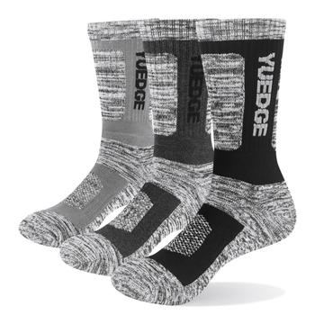 YUEDGE Men Breathable Comfortable Cushion Thicker Warm Winter Thermal Crew Sock 3 Pairs Size 38-46 EU - discount item  13% OFF Men's Socks