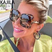 Oversized Women Sunglasses Female Big Frame Gradient Brand D
