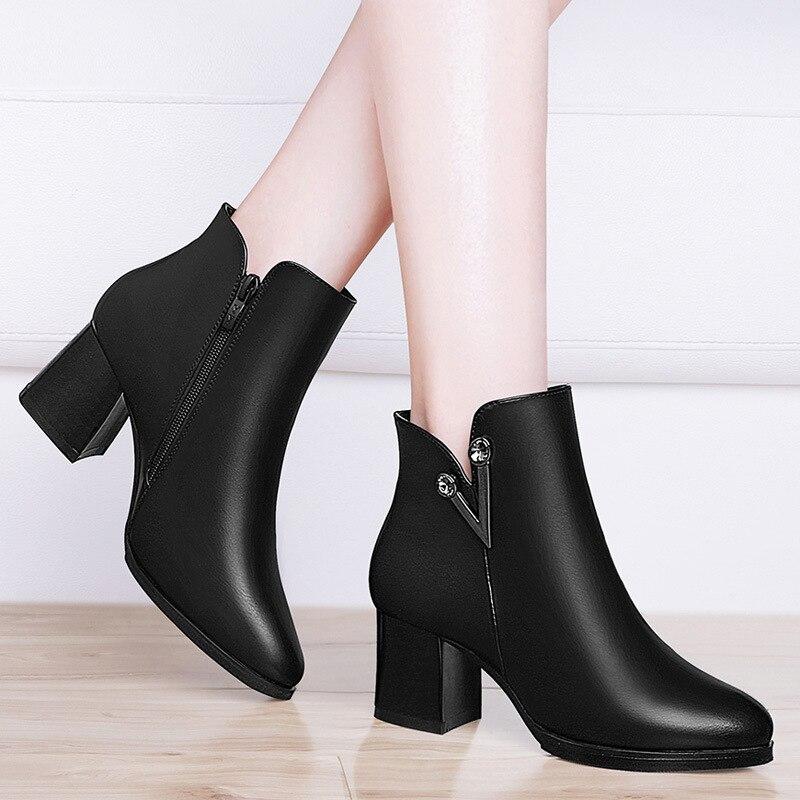 Gucci Tianlun Ann Martin Boots Women's England Wave Short Boots 2019 Autumn And Winter New Style High-Heel Huidong Women's Boots
