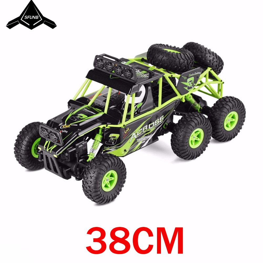 2019 The New Wltoys 18628 rc car 1 18 six wheel drive climbing car 2 4G remote control big foot off road vehicle large size 38cm in RC Cars from Toys Hobbies