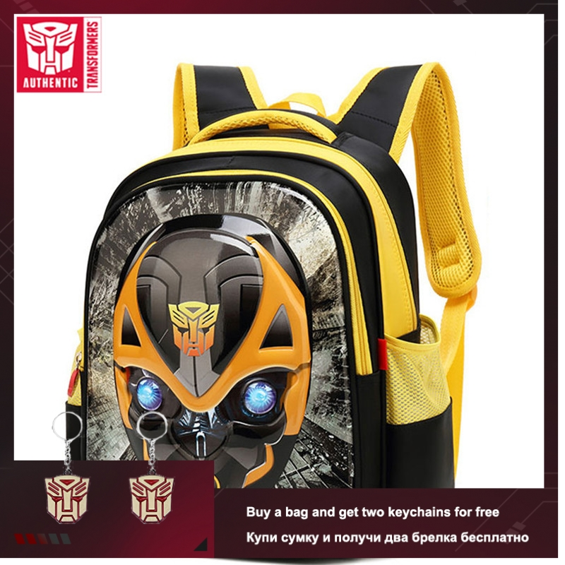 TRANSFORMERS 2019 New Boy Children's School Bag 3D Stereo Cartoon Backpack Waterproof Primary School Bag Big Capacity School Bag