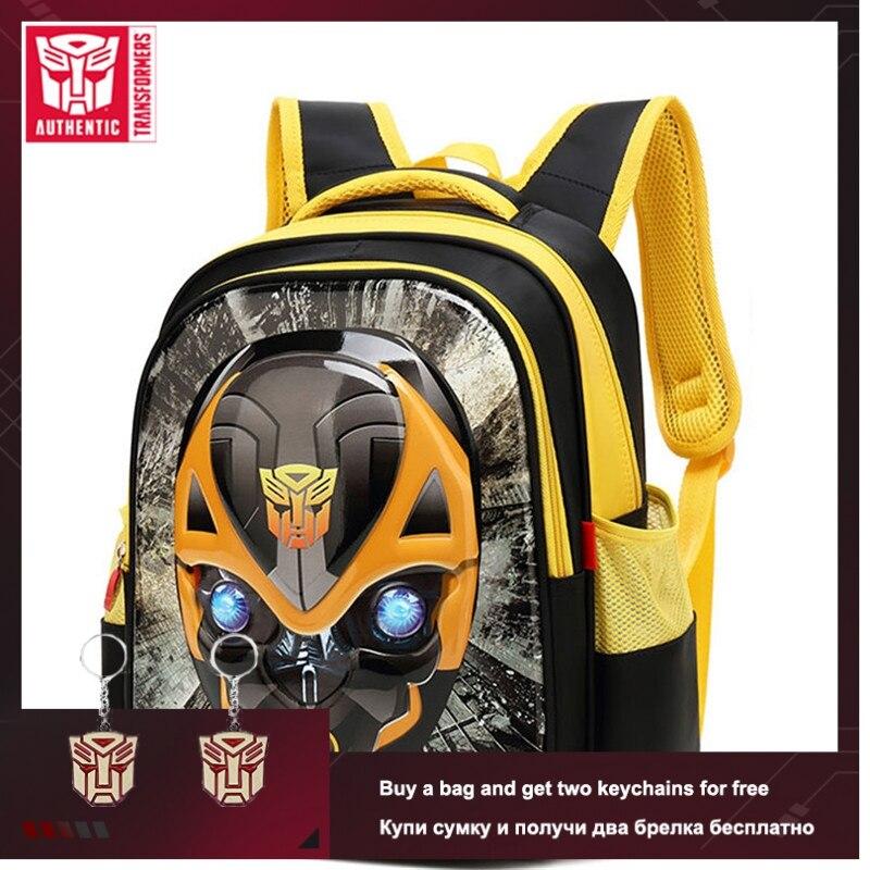 TRANSFORMERS 2019 New Boy Children's School Bag 3D Stereo Cartoon Backpack Waterproof Primary School Bag Big Capacity School Bag