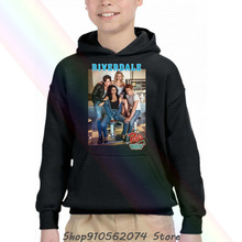 Riverdale Pops Group Photo White Children's Hooded Pocket Sweater New Headband Scarf