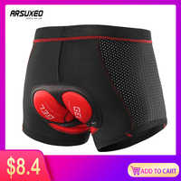 ARSUEXO Upgrade Cycling Underwear Pro 3D Gel Pad Mountain Bike MTB Shorts Shockproof Road Bicycle Underpants Breathable 001C